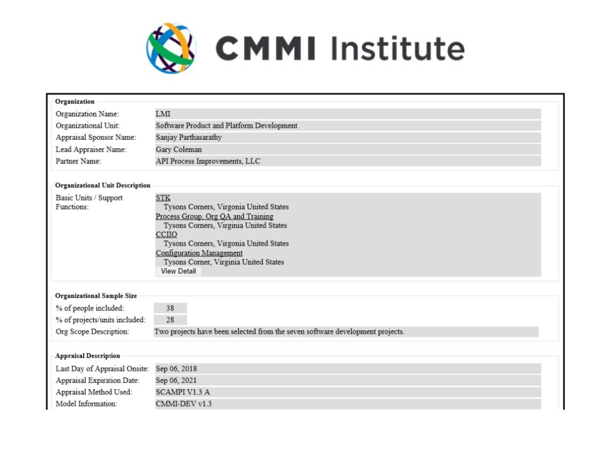 CMMI Development Maturity Level 3