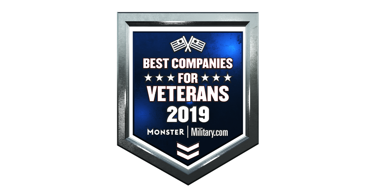 Monster Military.com Best Companies for Veterans 2019 Badge